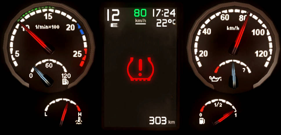 Truck tyre pressure management system dashboard ready
