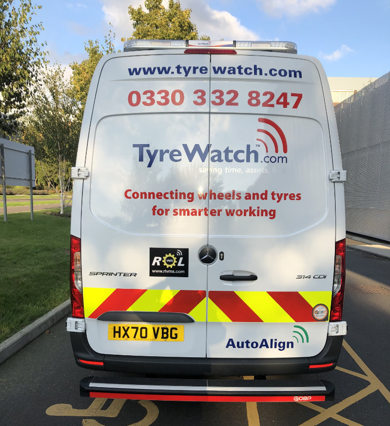 Tyrewatch new vehicle with onboard tyre telematics